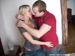 Slutty blondie teeny gets pounded