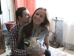 Teeny enjoys hookah and lovemaking