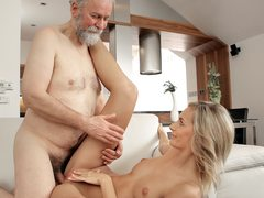 Mature fellow ravages fantastic wifey in elderly and youthful movie